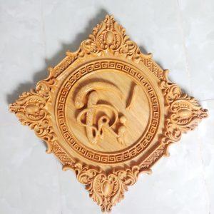 tranh gỗ chữ trí