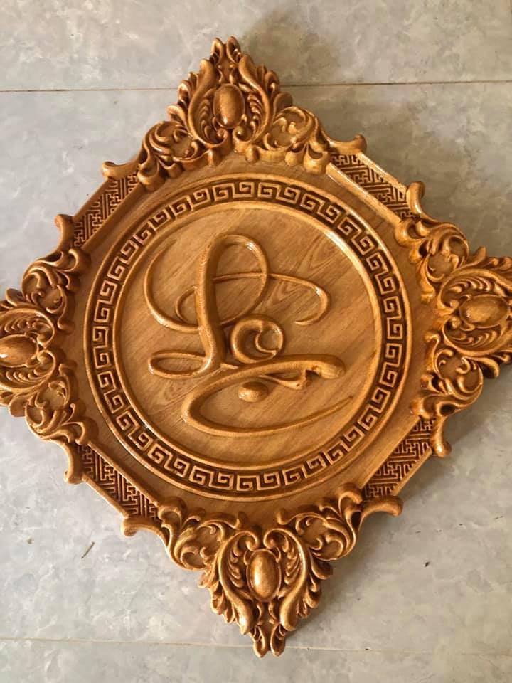 tranh gỗ chữ Lộc