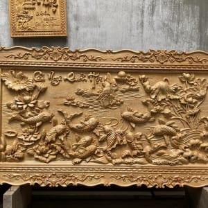 Tranh Cửu Ngư Quần Hội bằng gỗ Đẹp Nhất