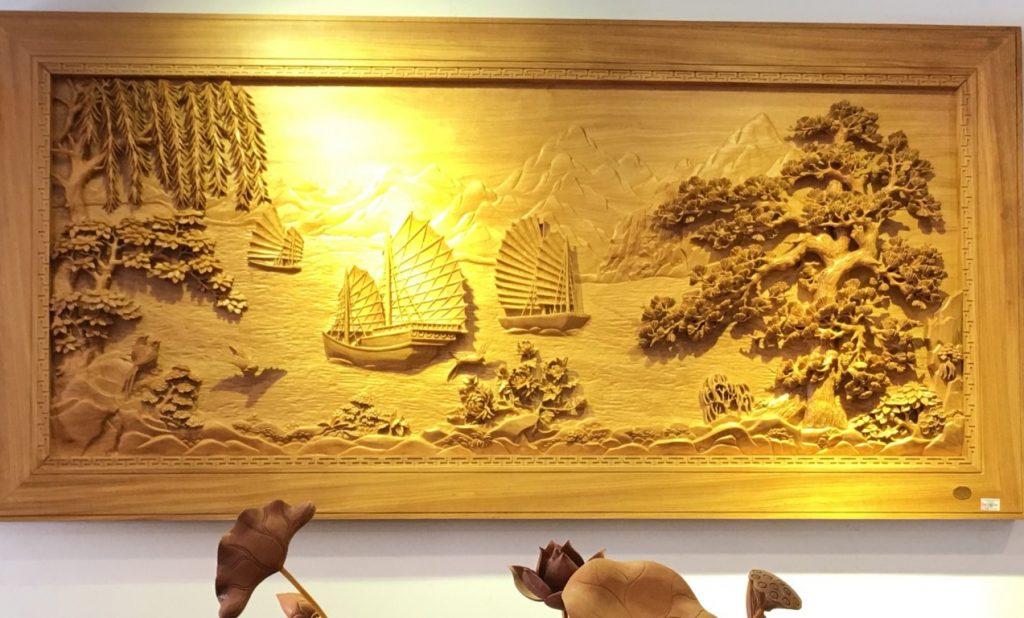 tranh gỗ sơn thủy bán ở đâu