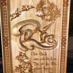 Tranh gỗ chữ Phúc