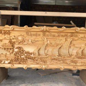 tranh gỗ thuận buồm xuôi gió đẹp nhất