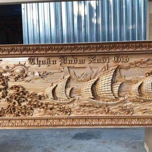 bức tranh thuận buồm xuôi gió bằng gỗ pơmu
