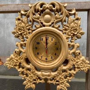 Đồng hồ treo tường gỗ dổi