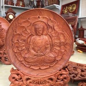 Đĩa gỗ Phật