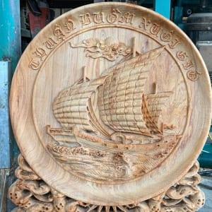 Đĩa gỗ Thuận Buồm Xuôi Gió