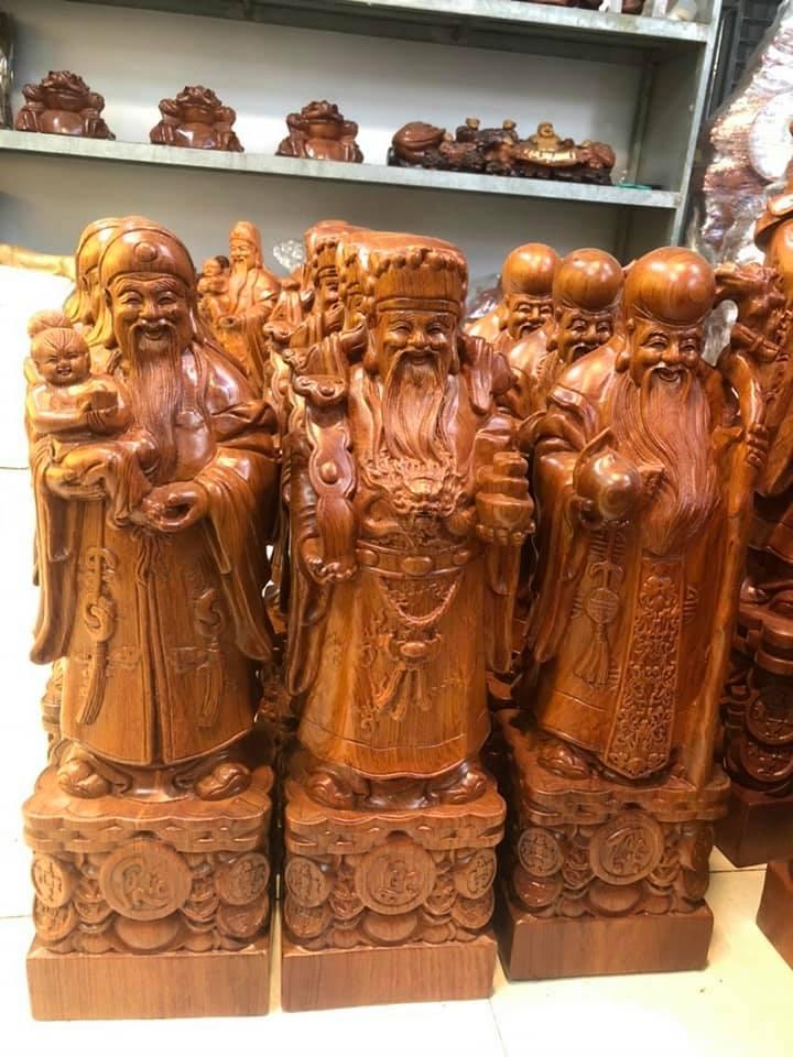 Tượng gỗ Phúc Lộc Thọ