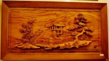 tranh gỗ chùa một cột