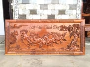 tranh gỗ ngựa